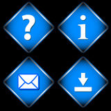 Four Blue Web Icons Stock Images