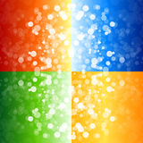 Four blurry lights backgrounds Royalty Free Stock Photos
