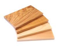 Four boards (acacia, oak, elm, lime) Stock Photos