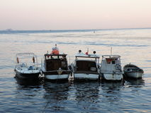 Five boats Royalty Free Stock Images
