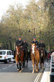 Four bobbies on horses Stock Images