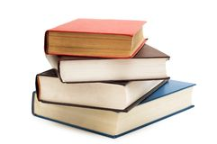 Four books isolated. On the white background Royalty Free Stock Photography