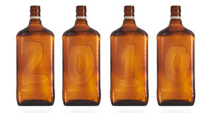 Four bottles Stock Photography