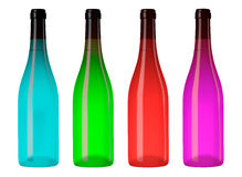 Four  bottles Royalty Free Stock Image