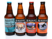 Four Bottles of Alaskan Brewing Co. Beers Royalty Free Stock Images