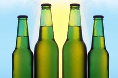 Four bottles of beer Royalty Free Stock Photography