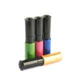 Four bottles of nail polish isolated Royalty Free Stock Image