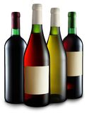 Four bottles of wine Royalty Free Stock Images