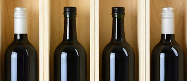 Four bottles of wine Royalty Free Stock Photos