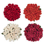 Four bouquet of roses Stock Photos