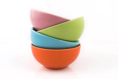 Four Bowl On White Background Stock Photography