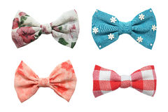 Four bows tie collection Royalty Free Stock Photography
