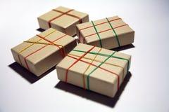 Four boxes Royalty Free Stock Photo