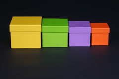 Four boxes Royalty Free Stock Photos
