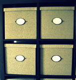 Four boxes. Oder Stock Photo