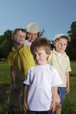 Four boy in row Royalty Free Stock Photography