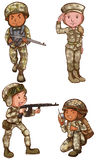 Four brave soldiers Royalty Free Stock Images