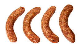 Four breakfast sausages Stock Photo