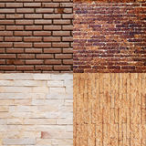 Four brick wall for background Royalty Free Stock Image
