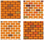 Four brickwall vector seamless  textures Royalty Free Stock Photo
