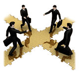 Four on the bridge of business success Royalty Free Stock Photos
