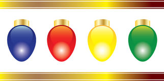 Four bright Christmas Lights Stock Photo