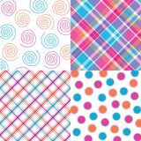 Four Bright Patterns Stock Image