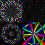 Four bright rainbow emission pattern Royalty Free Stock Image