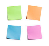 Four Bright Sticky Notes stock photo
