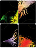 Four bright vector backgrounds Stock Photo