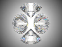 Four brilliant cut diamonds or gems Stock Photo