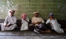 Four brothers laughing. Saudi Arabia shot Stock Images