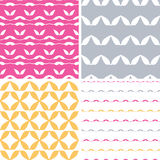 Four bstract leaf shapes geometric patterns backgrounds Royalty Free Stock Photos
