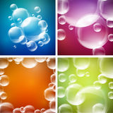 Four Bubbles Designs Stock Photos
