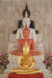 Four  buddha in church. Four step buddha statue in church thailand Royalty Free Stock Images
