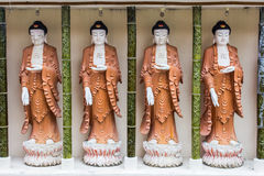 Four buddha statues Stock Photos