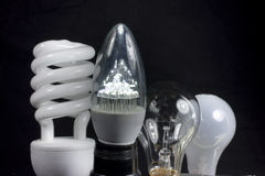 Four bulbs Royalty Free Stock Images
