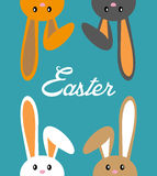 Four bunny for easter Royalty Free Stock Photos