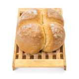 Four Buns Bread on Board Stock Images