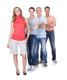 Four business associates in casual clothes Royalty Free Stock Image