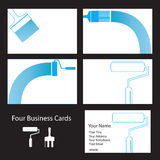 Decorator's business cards stock illustration