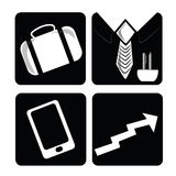 Four business icons Stock Photos