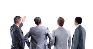 Four business mans from the back Royalty Free Stock Photos