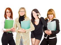 Four business women portrait Stock Images