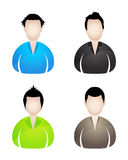 Four businessman icons Royalty Free Stock Photography