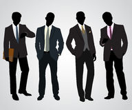 Four businessman silhouettes Royalty Free Stock Photos