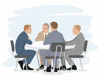 Four businessmen negotiations Stock Photos