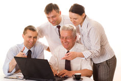 Four businessmen working Royalty Free Stock Photography