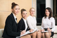 Four businesswomen royalty free stock images