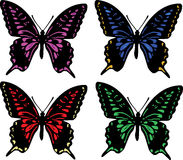 Four butterflies Royalty Free Stock Image